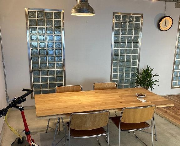 オーク床材でテーブル作成